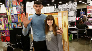Spock from Star Trek with The Labyrinth Wall Author Emilyann Girdner