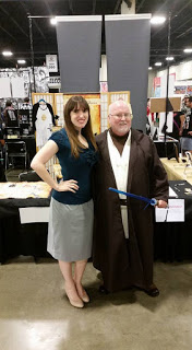 Author Emilyann Girdner and Jedi at Wizard World Comic Con