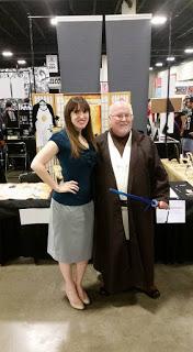 Author Emilyann Girdner and Jedi at Wizard World Comic Con