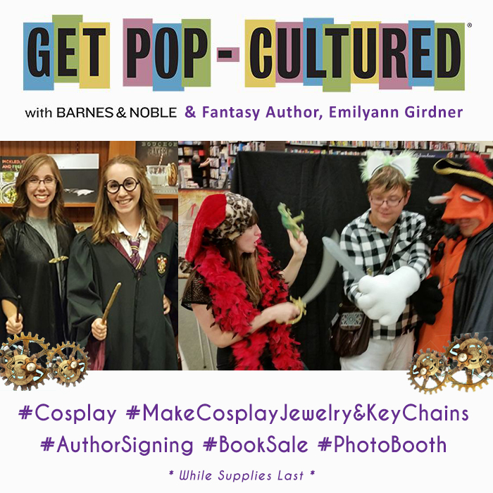 Orlando Event Get Pop-Cultured with Barnes & Noble and Fantasy Book Author Emilyann Girdner, Author Book Signing Orlando 2017, Upcoming Events Orlando, Fl