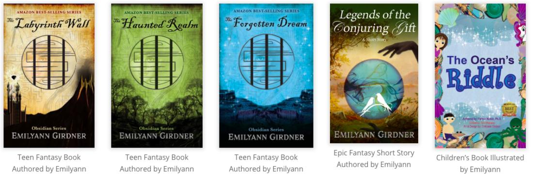 shop fantasy books like The Labyrinth Wall from the Obsidian Series by Emilyann Girdner