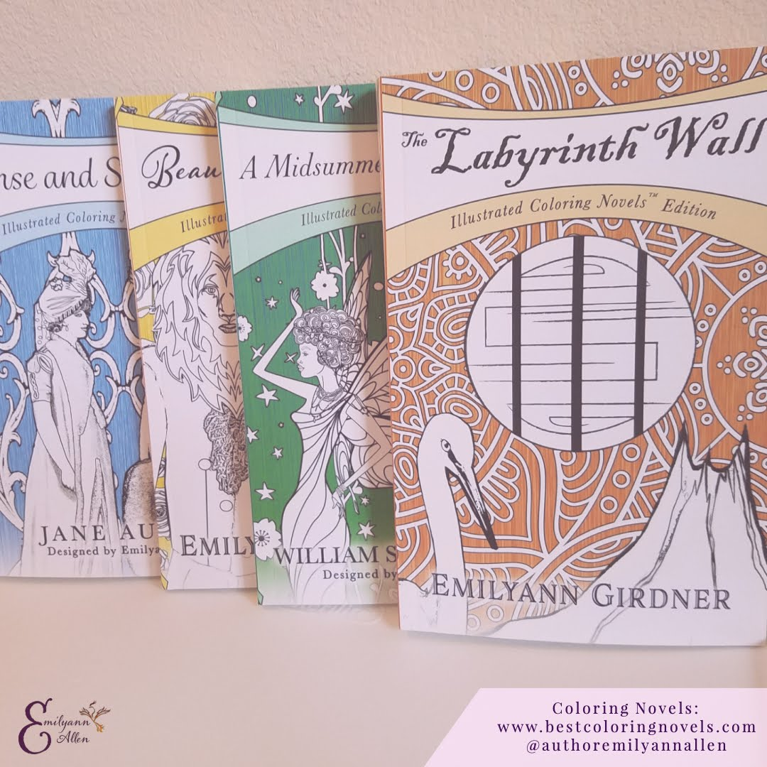 Coloring Novels Collection Paperbacks