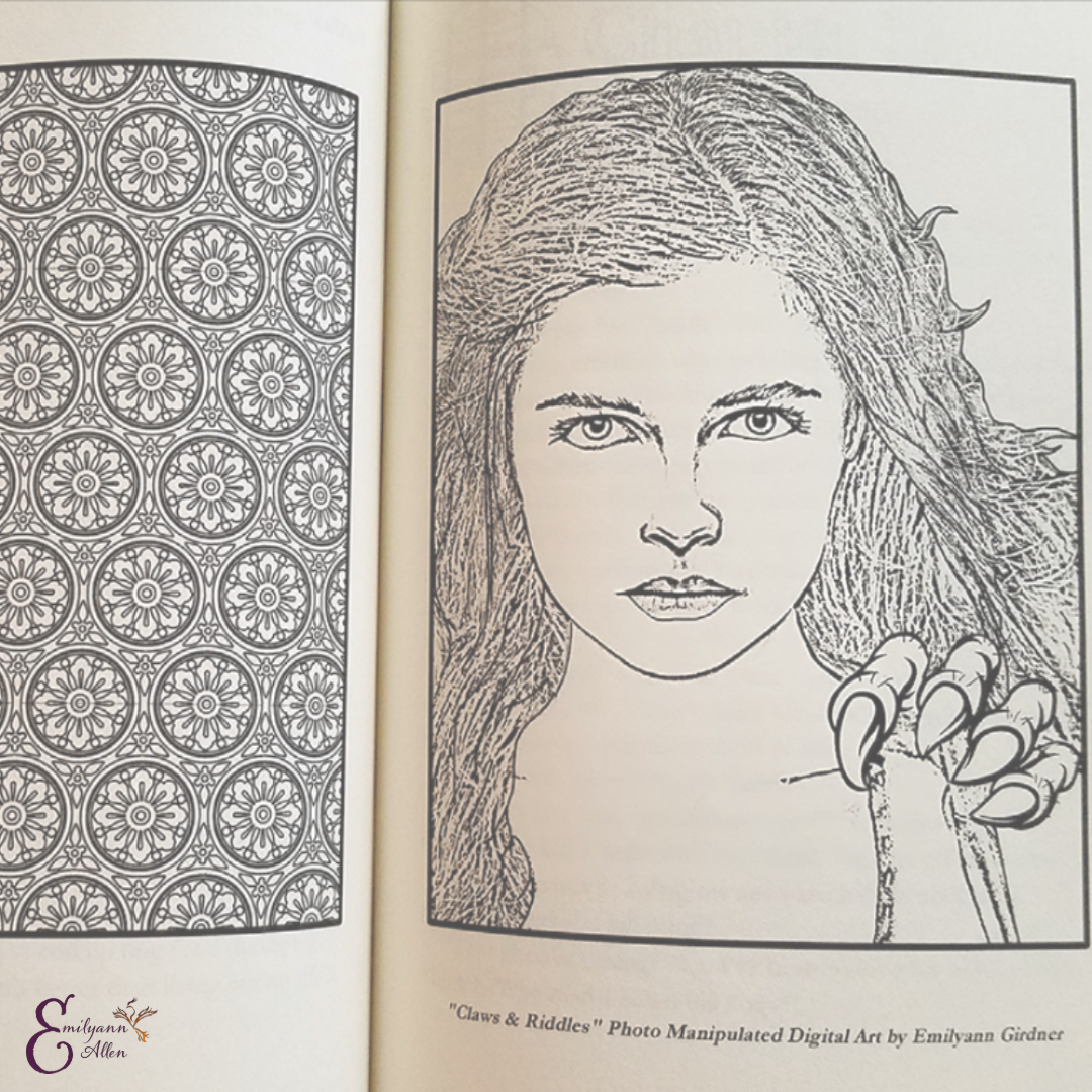 Coloring Novels Araina from The Labyrinth Wall Paperback YA Fantasy Book